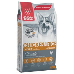 Корма  - Blitz Classic Dogs Chicken Rice 15 кг Сухой корм…, 0