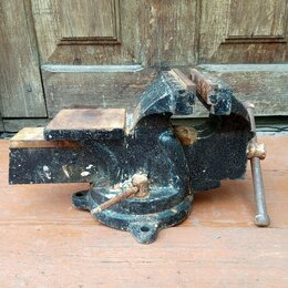 Тиски - Тиски слесарные Китай, ширина губок 150мм, 0
