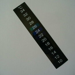 Оборудование для аквариумов и террариумов - Термометр-наклейка для аквариума., 0