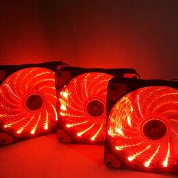 Кулеры и системы охлаждения - 3 красных вентилятора 120мм, 0