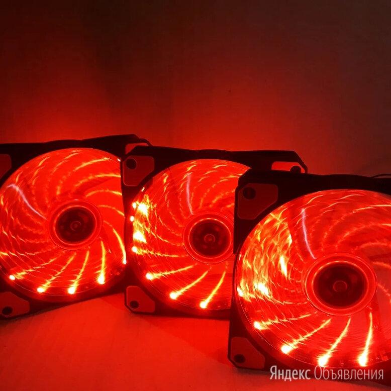 3 красных вентилятора 120мм по цене 749₽ - Кулеры и системы охлаждения, фото 0
