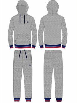 Спортивные костюмы и форма - Детские спортивные костюмы хлопковые серые (30-40), 0