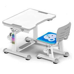 Компьютерные и письменные столы - Растущая парта и стул BD-08 Teddy grey белая,…, 0