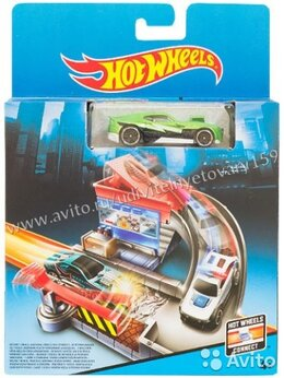 Машинки и техника - Игровой набор HOT wheels Автотрек, 0