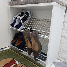 Обувницы - Узкая полка для обуви с сиденьем в маленькой…, 0