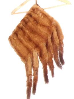 Перчатки и варежки - Муфта из норки винтаж с хвостами, 0