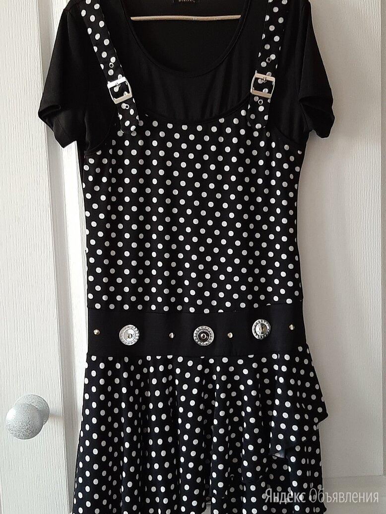 Новое платье в горошек, размер 44-46 по цене 1000₽ - Платья, фото 0