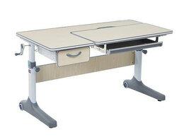 Компьютерные и письменные столы - Парта растущая детская с выдвижным ящиком серая…, 0