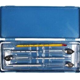 Термометры и таймеры - Набор ареометров (3 ареометра+термометр), 0