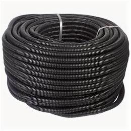 Товары для электромонтажа - Труба гофрированная черная ПНД с зондом D20 мм…, 0
