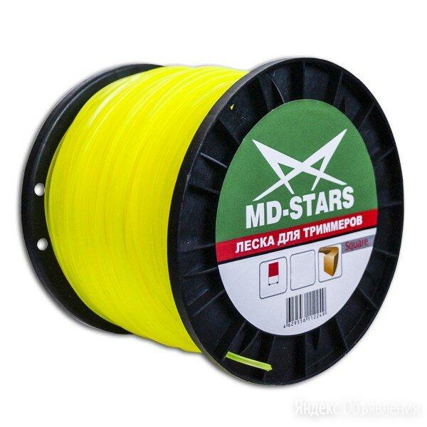 Леска для триммера квадратная 2,4мм х 236М х 1,35кг MD-STARS SQUARE по цене 1134₽ - Леска и ножи, фото 0