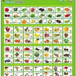 """Обучающие плакаты - Звуковой плакат """" Рыжий кот """" Фрукты, овощи, ягоды, грибы, размер: ..., 0"""