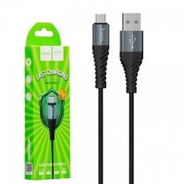 Зарядные устройства и адаптеры - Кабель USB - микро USB Hoco x38 2.4A, 0