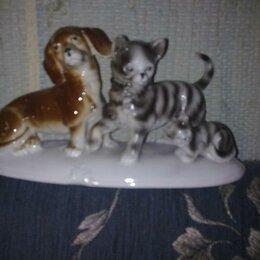 """Статуэтки и фигурки - Статуэтка """"Такса, кошка и котенок"""" Германия, 0"""