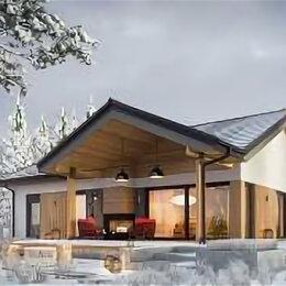 Архитектура, строительство и ремонт - Одноэтажный дом из кирпича со штукатурным фасадом, 0