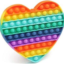 Игрушки-антистресс - Вечная пупырка антистресс Pop It пузырь сердце 20 см, 0
