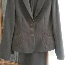 Костюмы - Костюм НОВЫЙ, презентабельный, из дорогой костюмной ткани, с брюками, 0