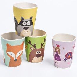 Бокалы и стаканы - Стакан детский из бамбука, 240 мл., цвет и…, 0