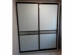 Шкафы, стенки, гарнитуры - Двери-купе. Белое стекло. Зеркало с рисунком, 0