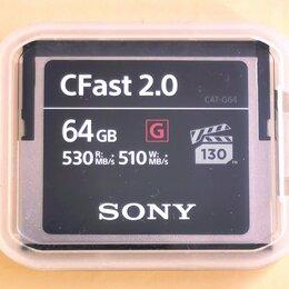 Карты памяти - Карта памяти Sony CFast 2.0 64 Гб, 0