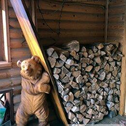 Садовые фигуры и цветочницы - Дровница в виде деревянной скульптуры медведя, 0