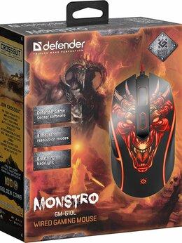 Мыши - Мышь Defender Monstro GM-510L, черный, USB,…, 0