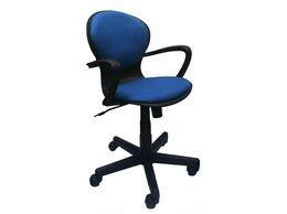 Компьютерные кресла - Кресло Вальтер кожзам синее, 0