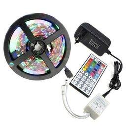 Светодиодные ленты - RGB Светодиодная Лента с Пультом и Блоком питания, 0