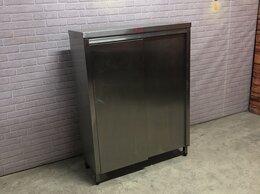 Мебель для учреждений - Шкаф купе кухонный напольный из нержавеющей стали , 0