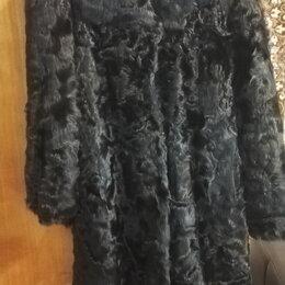 Шубы - Шуба женская, из мерлушки, размер 50-52 XL, торг, 0