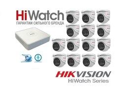 Камеры видеонаблюдения - Комплект HiWatch на 14камер 2Mxp с микрофоном, 0