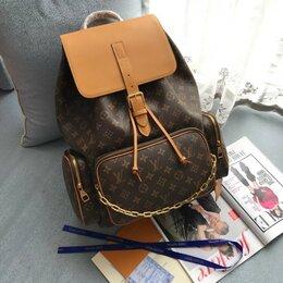 Рюкзаки - Рюкзак Louis Vuitton кожа женский/мужской коричневый новый, 0