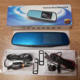 Видеорегистраторы - Регистратор зеркало 2 камеры, 0