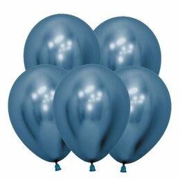 Новогодний декор и аксессуары - Шар Хром, синий, 0