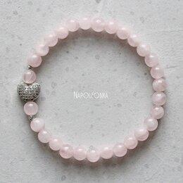 Браслеты - Браслет из розового кварца и серебра. Браслет на…, 0