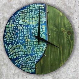 Часы настенные - Настенные часы из дерева (39 см), 0