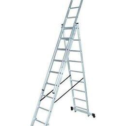 Лестницы и элементы лестниц - Лестница алюминиевая ВИХРЬ ЛА 3х8 трёхсекционная, 0