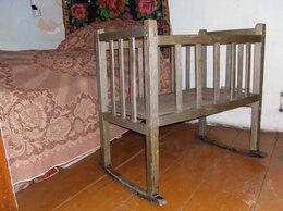 Кроватки - Детская старинная  кроватка-качалка, 0