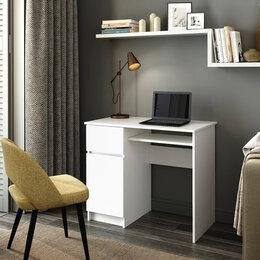 Компьютерные и письменные столы - Стол Мори-1, белый, 0