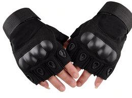 Перчатки и варежки - Перчатки беспалые, тактические OKLAI черные, 0