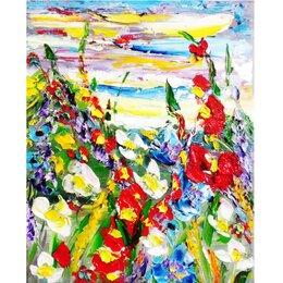 """Картины, постеры, гобелены, панно - Картина """"Будет новый день!"""", холст, масло, мастихин,30х24, 0"""