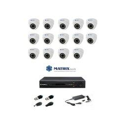 Камеры видеонаблюдения - Комплект видеонаблюдения Matrix Tech на 14 камер., 0