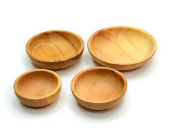 Тарелки - Набор посуды из дерева (скругленный), 0