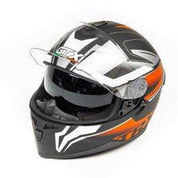 Мотоэкипировка - Шлем мото интеграл GTX 5672 (L) #1 BLACK/RED GREY (2 визора), 0