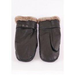 Перчатки и варежки - Рукавицы кожано-меховые, внутри овчина, 0