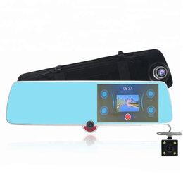 Видеокамеры - Авто видеорегистратор зеркало (3*КАМЕРЫ)  (CAR40), 0