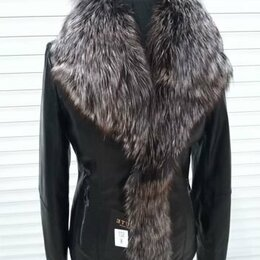 Куртки - Куртка кожаная женская зимняя, 0