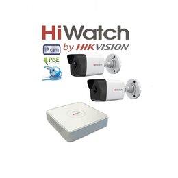 Камеры видеонаблюдения - Видеонаблюдение HiWatch (IP-POE) на 2камеры 2Mxp, 0