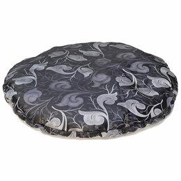 Аксессуары для садовой мебели - Матрас для гамака, диаметр 140 см темно-серый с принтом, 0