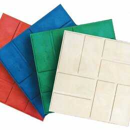Садовые дорожки и покрытия - плитка полимерпесчаная 250х250х20 , 0